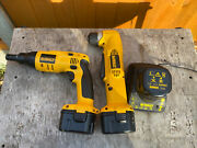 Dewalt 12v Cordless Right Angle Drill Dw965 And Drywall Drill Battery And Charger