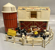 Vintage Fisher Price Little People 915 Family Farm With Silo And Animals