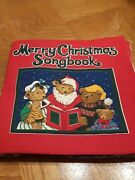 Finished Merry Christmas Song Book Fabric Panel 10 Bear And Nativity Toddler Gift