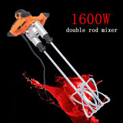 6 Speed Paint Cement Grout 1600w Dual High Low Gear Electric Mortar Mixer