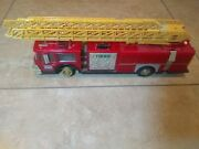 Vintage Hess Red Toy Fire Truck Bank 1986 Original Box For Partsst2