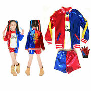 Halloween Kids Girl Suicide Squad Harley Quinn Costume Cosplay Party Fancy Dress