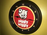 Piggly Wiggly Pig Grocery Store Kitchen Diner Clock Advertising Sign