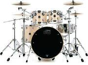 Dw Performance Series 4-piece Shell Pack With 22 Bass Drum - Natural Satin Oil