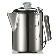 1.2l Outdoor 9 Cup Stainless Steel Percolator Coffee Pot Maker For Camping Home