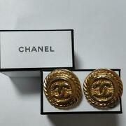Vintage Earring With Engraving Rare _67490