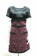 Dress Women And039s Tweed Size 36 B5176 Short Sleeve _68400