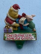 Disney Classic Pooh And Piglet Christmas Is A Time For Giving Stocking Hanger