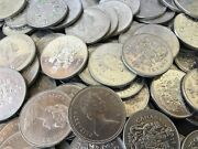 Lot Of 200 Face Value Canadian Half Dollars 50 Cent Coins All Nickel Old Canada