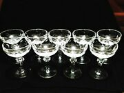 9x Waterford Crystal Replacement Curraghmore Champagne/tall Sherbet Glasses