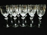 Lot Of 10 Waterford Crystal Replacement Curraghmore Claret Wine Glasses