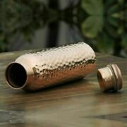 950 Ml Electrified Pure Copper Water Bottle For Ayurveda Yoga Health Benefits