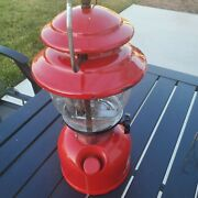 1970 Red Coleman Single Mantle Lantern 200a Sunshine Of The Night - Pyrex - 3-70