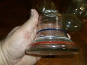 Antique Liberty Bell Glass Coin Banks Lot Of Four 4 Red White Blue 1776-1976