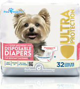 Paw Inspired Dog Diapers Female Disposable Puppy Diapers For Dogs In Heat Xs-xl