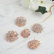 100 Rose Gold Metal Assorted Brooches Floral Pins Rhinestones Party Decorations
