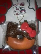 Hello Kitty Donut Sprinkle Squishy Keychain, Notebook, And Face Mask.