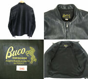 The Real Mccoyand039s Mccoys J-100 Single Riders Jacket Horsehide Horse L _58906