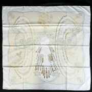 Hermes Carres 90 Doigts De Fee Fairy Fingers Large Size Scarf Beige Syste _72832