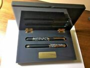 2 Pens Pelikan M815 Wall Street Limited Edition Fountain And Ballpoint Pen Set