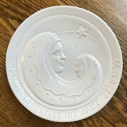 Vintage 1992 Frankoma Pottery And He Called His Name Jesus Decorative Plate
