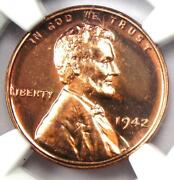 1942 Proof Lincoln Wheat Cent Penny 1c - Ngc Pr67 Rd Pf67 - 4500 Value