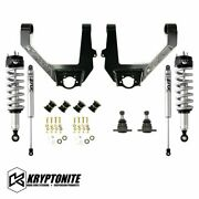 Kryptonite Stage 3 Leveling Kit With Fox Shocks For 14-18 Chevy/gmc 6 Lug 1500