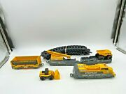 Caterpillar Train Car Set 3 Toy State Cat Plastic Loose Lot Fast Shipping