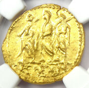 Coson Av Gold Stater Thracian Coin 54 Bc - Certified Ngc Ms Unc - Rare