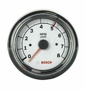 Sp0f000020 Actron Sp0f000020 Bosch Sport Ii 3 3/8 Tachometer White Dial Face,