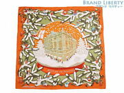 Hermes Carres 90 Noel Au 24 Faubourg Christmas At Fobble Large Size Scarf _75801