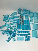 Lego Duplo Lot Of Clear Translucent Blue Ice Water Brick Blocks Assorted Rare