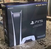 Sony Ps5 Digital Edition Console - White Playstation 5 Brand New In Hand