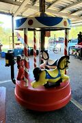 Coin Operated Horse Carousel Kiddie Ride Amusement Merry-go-round