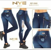 Nye Jeans Colombianos Colombian Push Up Jeans Levanta Cola Butt Lift Usa Size 5