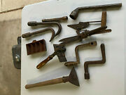 Old Tool Collection - Farm Home Ranch Tools Stove Handles Unknown Tools