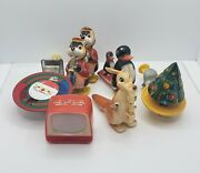 Assorted Lot Of Antique Plastic Toy And Tin Litho Christmas Toys Vintage
