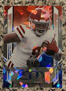 Elijah Mitchell 2021 Leaf Metal Red White Blue Cracked Ice Rookie Auto 49ers 2/4