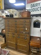 Vintage Oak Apothicary Cabinet - Post Office/ Country Store- 69andrdquox56andrdquo- 11248