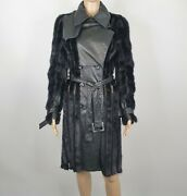 Christian Dior Womens Black Mink Leather Limited Edition Coat Uk 8