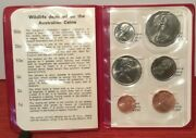 1973 Royal Australian Mint Coin Set 6 Coins In Red Wallet Uncirculated