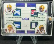 2021 National Treasures Lsu Quad Patch Burrow/jefferson/chase/edwards-helaire /5