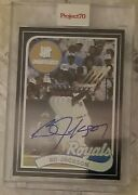 Project 70 Undefeated Bo Jackson Autograph And039d 49/70