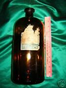 Large Antique Medicine Apothecary Memphis Tennessee Bottle N R