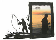 Fly Fishing Black Metal 5x7v Picture Frame