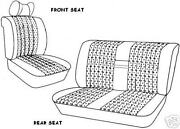 Mercedes W108 Front And Rear Seat Covers 250s,250se,280sel 65-73 Leather All Oem