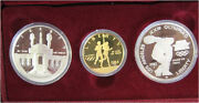 1983-1984 Olympic 3 Coin Commemorative Proof Set W/ 10 Gold And 2 Silver Dollars