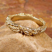 Wreath Of Leaves And Berries 14k Yellow Gold - Ring Size 8