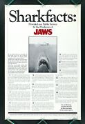 Jaws ✯ Shark Facts Cinemasterpieces 1975 Sharkfacts Original Rolled Movie Poster