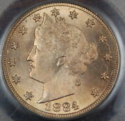 1884 Liberty Nickel Coin Pcgs Ms-64 Better Coin Fs